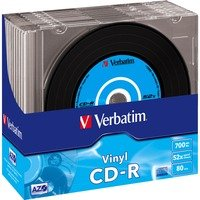 Comparateur de prix CD vierge Verbatim CD-R Data Vinyl 700MB 10PK Slim 52x