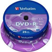 Comparateur de prix Verbatim DVD+R 4.7 Go 16x (par 25, spindle)