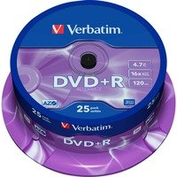 Comparer les prix du Verbatim DVD+R 4.7 Go 16x (par 25, spindle)