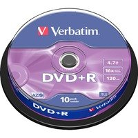 Comparer les prix du Verbatim DVD+R 4.7 Go 16x (par 10, spindle)