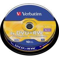 Comparer les prix du DVD vierge Verbatim DVD+RW 4.7GB 10PK P10 Spindle 4x