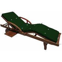 Comparateur de prix Detex® Coussin pour transat Chaise Longue de Jardin Vert 195cm Rembourré Matelas