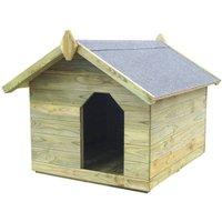 Comparateur de prix vidaXL Niche de jardin avec toit ouvrant pour chien Pin imprégné FSC