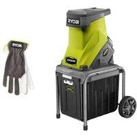 Comparateur de prix Pack RYOBI Broyeur de végétaux 2500W RSH2545B - Gants de jardinage Cuire Taille M RAC810M