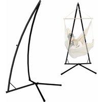 Comparateur de prix AMANKA Support pour Fauteuil Suspendu 215cm Soutien en Acier pour accrocher balancelle et chaises suspendues Poids Max 120KG métal Noir