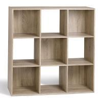 comparateur de prix Compo Meuble de Rangement 9 Casiers Bibliothèque Etagères Cubes Chêne 92 x 29,5 x 92 cm