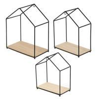 Comparateur de prix Etagère filaire en forme de maison (Lot de 3)