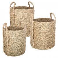 comparateur de prix Lot de 3 paniers ronds seagrass - Atmosphera