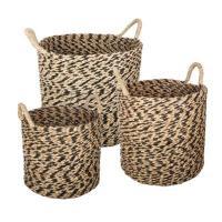 comparateur de prix Atmosphera - Lot de 3 paniers ronds seagrass etnik