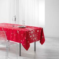 Comparateur de prix Cdaffaires nappe rectangle 150 x 300 cm polyester imprime argent constellation rouge 1722037-rouge