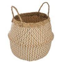 comparateur de prix ATMOSPHERA Panier Seagrass Pli motif - Blanc