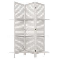 Comparateur de prix Paravent bois 3 étagères blanc Blanc - Atmosphera