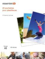 Comparateur de prix Consommable de bureau pour plastifieuse Essentielb 20 feuilles A3 pour plastifieuse 80mic