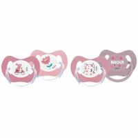 Dodie Sucette +18 Mois Duo Physio Fille Princesse Silicone