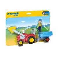 Comparer les prix du PLAYMOBIL 1.2.3 - 6964 - Fermier avec Tracteur et Remorque