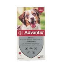 Comparateur de prix Advantix chien moyen 10 à 25 kg, boite de 4 pipettes, Bayer