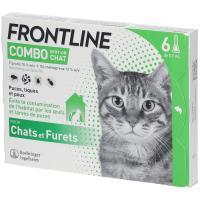 comparateur de prix Frontline Combo Spot-On Chat 6 Pipettes