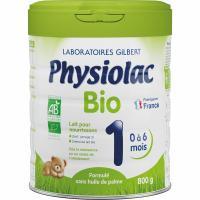 Comparateur de prix Gilbert Physiolac Lait Bio 1er Age 800g