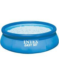 Intex Easy Set - Piscine hors-sol autoportée ronde - D. 3,96 m x H. 83 cm
