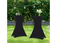 Comparateur de prix Lot de 2 tables hautes 105 cm pliantes + 2 housses noires