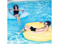 Jumbo bag Pouf flottant Jaune Swimming Bag