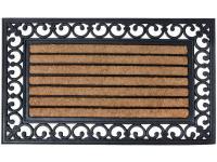 Comparateur de prix Paillasson rectangulaire en coco et caoutchouc - 75 x 45cm