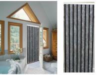 Comparateur de prix Rideau de porte Florence chenilles 90x220 cm - gris, noir