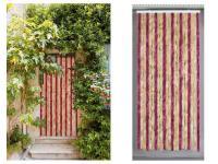 Comparateur de prix Rideau de porte chenille Florence Vanille Griotte - 90 x 220 cm