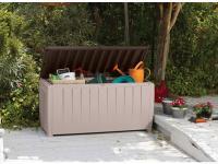 Comparateur de prix Coffre de jardin avec assise marron et beige