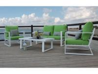 comparateur de prix Hevea - Salon de jardin en aluminium 4 places Ayana