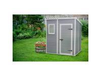 Keter Premium gris - Abri de jardin monopente en résine - 3,2 m²