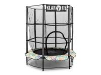 Comparateur de prix KLARFIT Rocketkid 4 Trampoline de jardin fleuri 140cm filet de sécurité + cordes