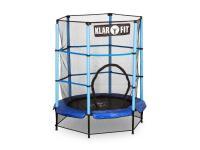 Comparateur de prix KLARFIT Rocketkid Trampoline pour enfant avec filet de sécurité - Diamètre 140cm - Bleu