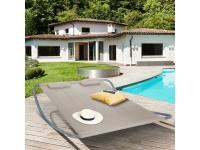 Comparateur de prix Idmarket Lit bain de soleil 180cm toile taupe