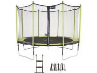 Comparateur de prix Kangui Trampoline de jardin 365 cm + filet de sécurité + échelle + kit d'ancrage Jumpi Pop 360