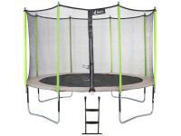Comparateur de prix Kangui Trampoline de jardin 365 cm + filet de sécurité + échelle Jumpi Zen 360