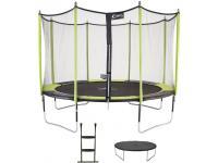 Comparateur de prix Kangui Trampoline de jardin 365 cm + filet de sécurité + échelle + bâche de protection Jumpi Vert/Noir 360