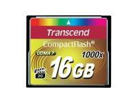 Comparateur de prix Transcend CompactFlash Card 1000x 16GB mémoire flash 16 Go