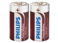comparateur de prix Power Alkaline C Batteries 2 Pack - PHILIPS