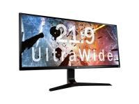 """Comparer les prix du LG 34UM69G - Écran LED - 34"""" (34"""" visualisable) - 2560 x 1080 - IPS - 250 cd/m² - 1000:1 - 14 ms - HDMI, DisplayPort, USB-C - haut-parleurs - noir ultra brillant, rouge"""