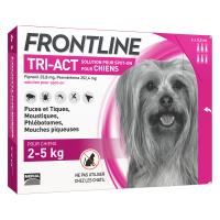 Comparateur de prix Frontline tri act - chien xs (2 - 5 kg) - 6 pipettes