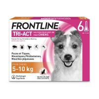 comparateur de prix Frontline tri act - chien s (5 - 10 kg) - 6 pipettes