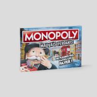 Jeu de société Hasbro Monopoly pour les mauvais perdants