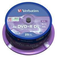 Comparateur de prix Verbatim DVD+R DL 8.5 Go 8x 240 min (par 25, spindle)
