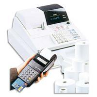 Comparateur de prix Bobine terminaux carte bancaire thermique 1 pli - sans bisphénol A - format 57 x 40 x 12 mm