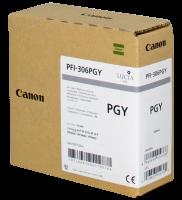Conso imprimantes - CANON - PFI-306 PGY - Photo Gris/330ml