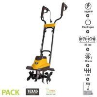 Comparateur de prix Motobineuse électrique 1000 watts largeur travail 36cm ELTEX1000 - Jaune - Texas