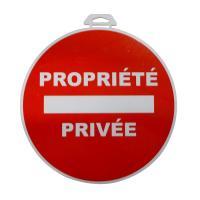 Comparateur de prix 1 Disque Propriété Privée Ø 28 Cm En Pvc Autocollant
