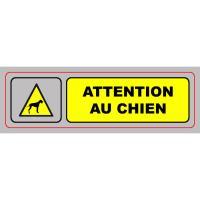 Comparateur de prix Plaque de signalisation auto-adhésive en aluminium 17 x 5cm - Attention au chien - Lot de 5