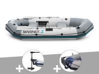 Comparateur de prix Kit bateau gonflable 3 places Mariner 3 avec moteur, rames et gonfleur - Intex